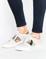 Oasis Leather Metallic Panel Sneakers