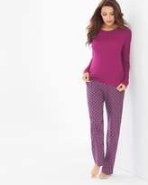 Soma Intimates Festive Flannel Pajama Set