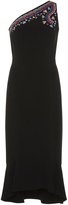 Peter Pilotto Embroidered One Shoulder Dress