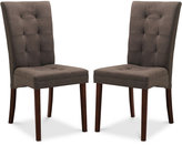 Annette Set of 2 Fabric Dining Chairs, , Direct Ship