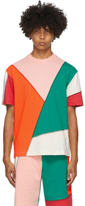 McQ Multicolor Swallow Patchwork T-Shirt