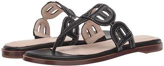 Cole Haan Anoushka Sandal (Black Leather/Tonal Heavy Guage Stitch/Black Stack Leather) Women's Shoes