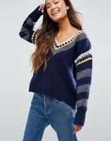 Shae Crochet V Neck Sweater