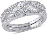 Ice Julie Leah 1 1/10 CT TW Diamond 14K Gold Bridal Set with IGL Certification