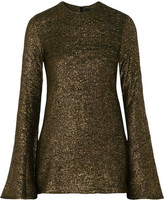 Ellery Inception Metallic Knitted Sweater - Gold