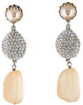 Isaac Mizrahi Crystal & Faux Pearl Drop Earrings