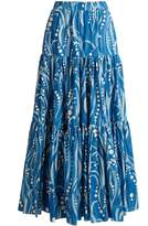 LA DOUBLEJ EDITIONS The Big gathered cotton maxi skirt