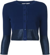 Carolina Herrera metallic detail cropped cardigan - women - Polyamide/viscose - XS