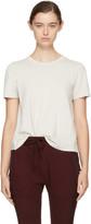 Raquel Allegra Off-White Long Sleeve Boy T-Shirt
