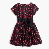 J.Crew Girls' belted dress in cherry print