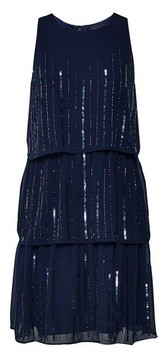 Dorothy Perkins Womens **Showcase Navy 'Joanie' Tiered Trapeze Dress
