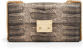 Henri Bendel Waldorf Snake Embossed Wallet on a Chain