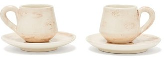 Brunello Cucinelli Set Of Two Ceramic Cups And Saucers - Cream