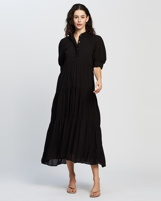 NEVER FULLY DRESSED Panel Maxi Dress