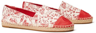 Tory Burch Printed Color-Block Espadrille