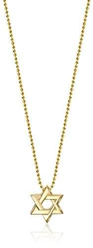 "Alex Woo Little Faith"" Little Faith 14kt Gold Star of David Pendant Necklace"