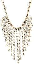 Charlotte Russe Rhinestone Fringe Bib Necklace