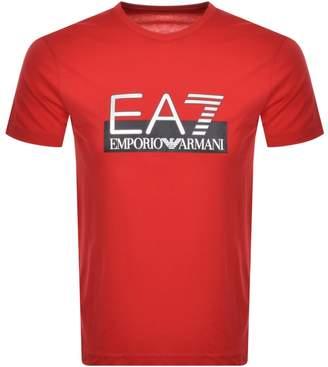 Emporio Armani Ea7 EA7 Visibility T Shirt Red