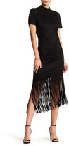 Alexia Admor Faux Suede Fringe Dress