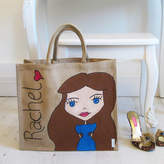 Hurley Sarah Hand Painted Personalised Dollybelles Large Tote Bag