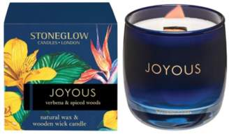 Stoneglow stoneglow - Verbena and Spiced Woods Joyous Tumbler Candle with Wood Wick