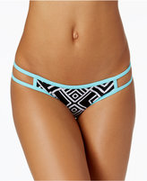 Hula Honey Geometric-Print Low-Rise Hipster Bikini Bottoms Women's Swimsuit