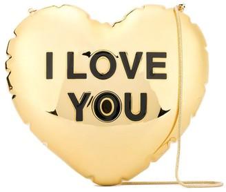 Marc Jacobs Gold Balloon Heart Clutch