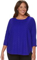 Dana Buchman Plus Size Striped Dolman Sweater