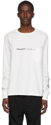 TAKAHIROMIYASHITA TheSoloist. White Shoegazer Long Sleeve T-Shirt