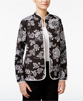 Alfred Dunner City Life Reversible Quilted Jacket
