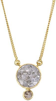 Ophelia Sliced Raw Diamond Pendant & 18K Yellow Gold Vermeil Necklace