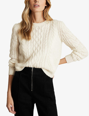 Reiss Amelie cable-knit wool-blend jumper