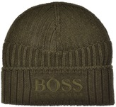 BOSS ORANGE Fenno Beanie Hat Green