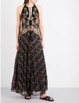 Free People Take Me Away embroidered maxi dress