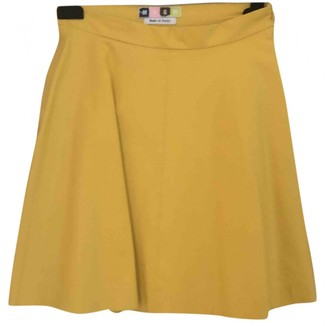 MSGM Yellow Cotton Skirt for Women
