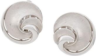 Susan Caplan Vintage 1950's Trifari Swirl earrings