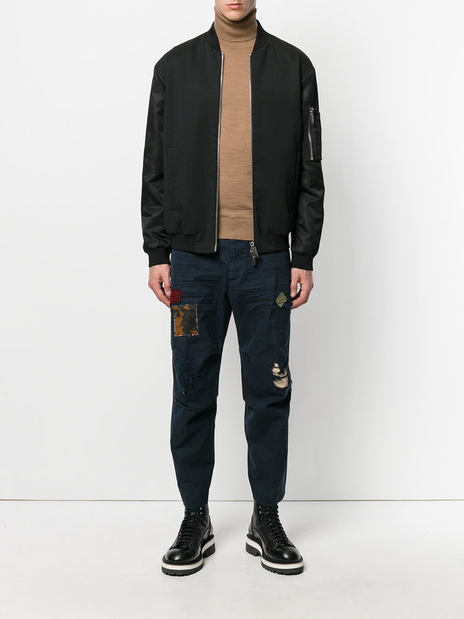 DSQUARED2 distressed Hiking trousers