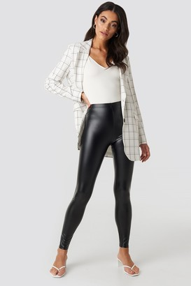 NA-KD Shiny High Waist Leggings