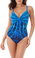 Miraclesuit R) The Beach Goes On Pin-Up One-Piece Swimsuit