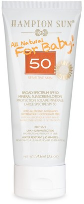 Hampton Sun All Natural SPF 50 Mineral Sunscreen Lotion For Baby