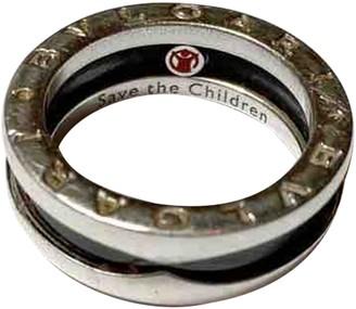 Bvlgari Save The Children Black Silver Rings