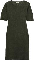 Nina Ricci Metallic ribbed-knit silk-blend mini dress