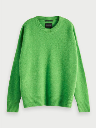 Scotch & Soda Toxic Green Polyester Crew Neck Pullover - toxic green | polyester | m