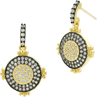 Freida Rothman Signature Pave Drop Earrings