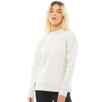 Fred Perry Womens Taped Sweatshirt Iced Grey Marl