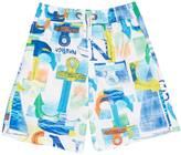 Nautica Boys' Anchor Print Swim Trunk (8-16)