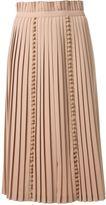 Taro Horiuchi pompom detail pleated skirt