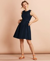 Brooks Brothers Irish Linen-Cotton A-Line Dress