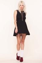 Lulu For Love & Lemons Dress in Black Stripe