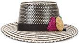 Yosuzi x Lucy Folk hat - women - Straw - One Size